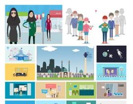 مجموعه آموزشی سرزمین انیمیشن سازی دو بعدی در افتر افکت به همراه کاراکتر های باحجاب و شهر های ایران – به زبان فارسی