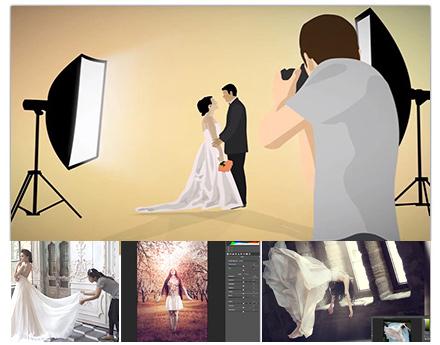 پکیج آموزشی تکنیک و استراتژی های آتلیه عروسی از پایه تا پیشرفته – به زبان فارسی + به روزترین متودهای عکاسی